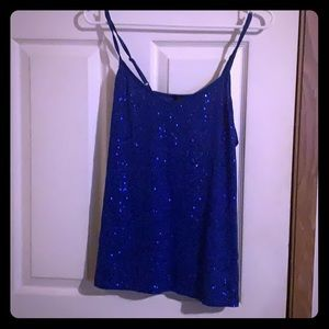 Women's xl blue sequins tank top